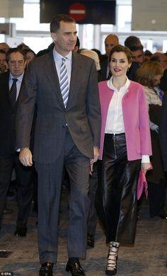 The Spanish Queenaccompanied husband King Felipe to the 35th ARCO International Contemporary Art Fair