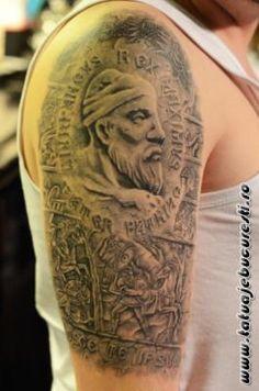 Wolf Tattoo Sleeve, Sleeve Tattoos, Eagle Tattoos, Viking Tattoos, Get A Tattoo, Tatoos, Mens Fashion, Romania, Oriental
