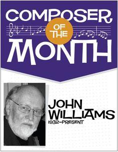 John Williams | Bulletin Board Poster Pack (Digital Print) 6 Posters - http://makingmusicfun.net/htm/f_printit_lesson_resources/john-williams-composer-of-the-month-bulletin-board-pack.htm