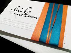 Orange and Teal! Wedding invitations!