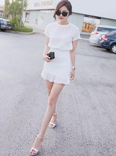 cute white look