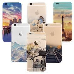 iPhone 6 6S case Ultra Thin Soft Waterproof Silicon Mountain Landscape For iphone 6 plus Case Phone Cover