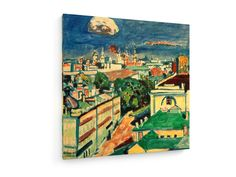 Wassily Kandinsky - View of Muscow from the Window of Kandinsky's Flat #Wassily #Kandinsky #weewado #wassily #kandinsky #architecture