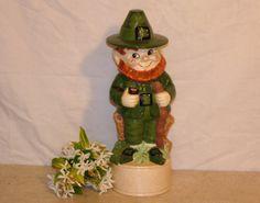 Leprechaun / Lovely Irish / Whimsical Ceramic by EarlsBizarre, $44.00