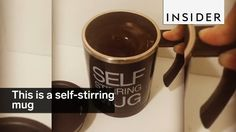 This is a self-stirring mug - YouTube