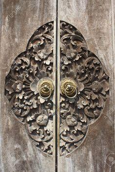 Carved Wooden Door, Bali