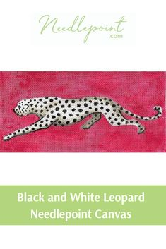 We love this sassy black and white leopard needlepoint canvas insert from Colors of Praise! #COPBR130