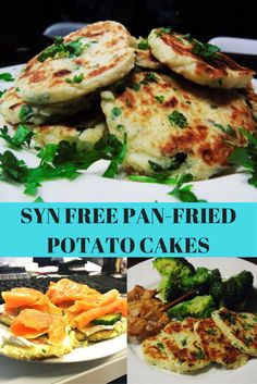 Syn Free Pan Fried Potato Cakes - Slimming World - Slimming - Healthy - Syn Free - Dinner - Breakfast - Recipes - Recipe - Recipe Idea