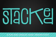 Stacked Font ~ Display Fonts on Creative Market