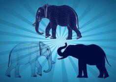 Free elephant graphics design in adobe illustrator .ai vector and encapsulated postscript . Eps Vector, Vector Graphics, Vector Art, Elephant Stencil, Elephant Design, Hobbit, Adobe Illustrator, Design Art, Graphic Art