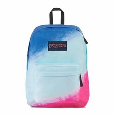 Jansport High Stakes Backpack ($42) ❤ liked on Polyvore featuring bags, backpacks, handle bag, pocket backpack, utility backpack, blue backpack and pocket bag