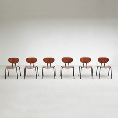 Set of 6 industrial chairs