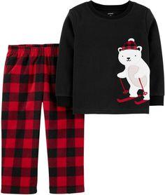 Polar Bear Fleece PJs, , hi-res Pyjamas, Baby Boy Pajamas, Carters Baby Boys, Toddler Boys, Reborn Toddler, Girls Pajamas, Toddler Outfits, Kids Outfits, Fleece Pajamas