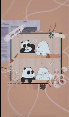 Iphone Wallpaper Cat, Cute Panda Wallpaper, Iphone Wallpaper Tumblr Aesthetic, Bear Wallpaper, Cute Patterns Wallpaper, Cute Disney Wallpaper, We Bare Bears Wallpapers, Panda Wallpapers, Cute Cartoon Wallpapers