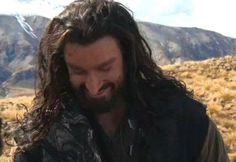 Funnies: Thorin's just found out that the dragon is just a skinny guy in a black body suit...like when Dorothy discovered that the Great and Terrible Oz was just an old guy behind a curtain. Thanks to Richard Armitage Italia for this great image!