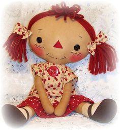 Raggedy Ann Doll Patterns Free | Cloth Doll Pattern Raggedy Ann Pattern Rag ... | Raggedy Ann and Andy