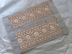 Very old swiss st gall lace - antique lace embroidery personalise vintage sewing supply
