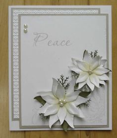 White Poinsettas by stiz2003 - Cards and Paper Crafts at Splitcoaststampers