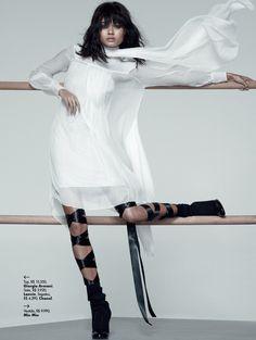 Black Swan: Daniela Braga By Nicole Heiniger For L'officiel Brasil June 2015 - Miu Miu Resort 2015
