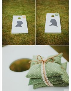 An outdoor wedding is the perfect opportunity to bring back some of your favorite backyard wedding games in an elegant way.