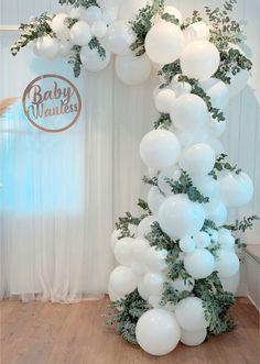 Birthday Balloon Decorations, Bridal Shower Decorations, Wedding Decorations, Christening Decorations, Baloon Garland, Deco Ballon, White Balloons, Ballons, Wedding Balloons