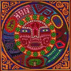 Huichol yarn and bead art