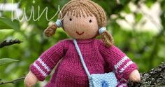 Twins' Knitting Pattern MiniShop: Valerie the Knitted Doll (in English)