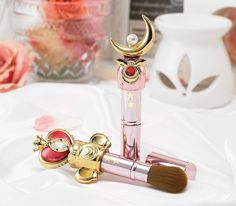 """sailor moon"" ""sailor moon wand"" ""sailor moon toy"" ""sailor moon merchandise"" ""sailor moon cosmetics"" ""moon stick"" ""spiral heart moon rod"" cheek brush blush makeup ""miracle romance"" shop anime japan 2016"