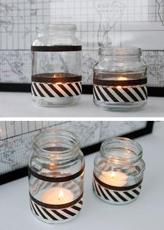 DIY Ljushållare av glasburkar http://www.signerathannawallgren.se/blogg/