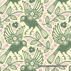 Fabric... Up Parasol Meadowlark in Loden by Heather Bailey for FreeSpirit Fabrics