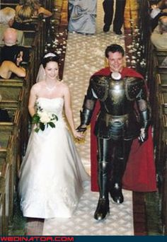 I guess she REALLY found her Knight in Shining Armor, huh?