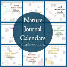 We're making nature study simple with a Nature Journal Calendar. All of the calendars have been updated to be used no matter what year it is. Feel free to fill in the dates and the current year on your own. How to Use the Nature Journal Calendar There's no right or wrong way to use …