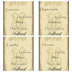 Scrolls for sorting hat ceremony. Hufflepuff characteristics.