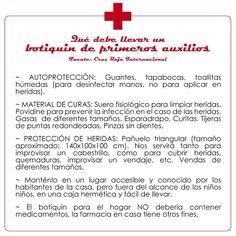 Qué debe contener un kit de primeros auxilios según la Cruz Roja