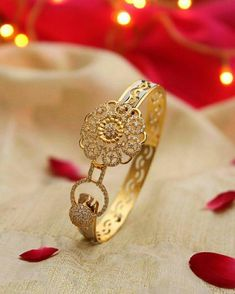 Gold fancy bangles collection – boutiquedesignerjewellery.com