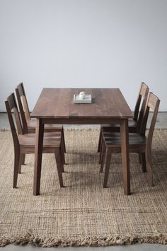 Solid Walnut Ventura Dining Table  Customizable with Leaves