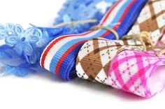 Grosgrain Ribbon set - Blue, Brown, Pink ribbon collection | Todo Papel | Color Lace Paper Doilies & Pretty Stationery