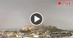 Spectacular view of the #Acropolis and the #Parthenon.  #Travel #Greece #Live #webcam