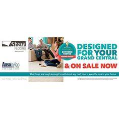Shaw Advantage - Grand Central Terminal Anso Nylon On Sale Banner Carpet Brands, Sale Banner, Flooring, Design, Wood Flooring, Floor