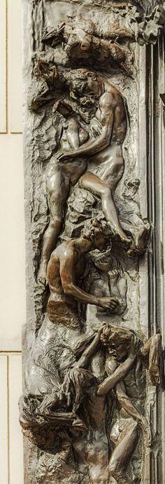 Auguste Rodin la porte de l'enfer (détails)
