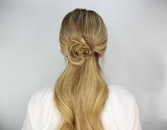 DIY Hair Tutorial Rosette Ponytail
