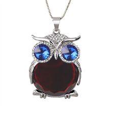 Fashion Crystal Necklaces Cute Rhinestone Gem CZ Diamond Owl Long Necklaces&Pendants Sweater Chain - Weekdaygirl Nails & Beauty - 1