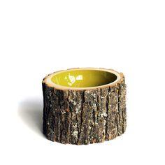 Log Bowl Medium Kiwi from Doha Chebib Lindskoog, Designer & Co-Founder, $140, now featured on Fab.