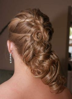 Twisted hair style