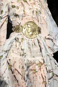 dolce-and-gabbana spring 2014. Soft silk with metal belt