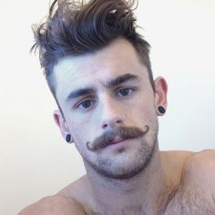 Nathan McCallum curly moustaches #mustache #stache #baffi #movember - Carefully selected by GORGONIA www.gorgonia.it