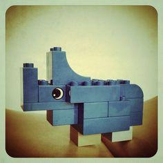 Finn's Rhinocer. Toy rhinoceros for my baby in #Duplo