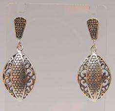 Wundervolle elegante 925 Silber Designer Ohrhänger Ohrstecker Top