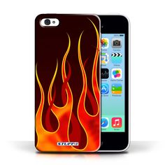 Designer Mobile Phone Case / Flame Paint Job Collection / Red/Orange #designer #case #cover #iphone #smartphone #fire #flames #paintjob