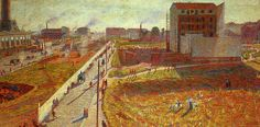 In Milan they used to work this way: Umberto Boccioni, Workshops in Porta Romana, 1909